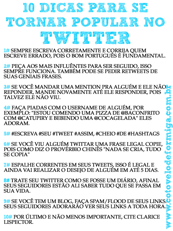 TUTORIAL COMO SER POPULAR NO TWITTER