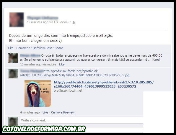 Flagra no Facebook