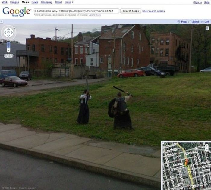 Flagras bizarros do Google Street View (17)