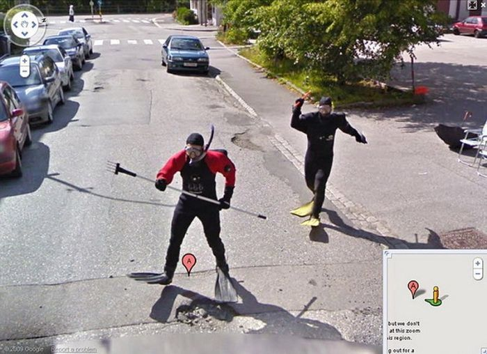 Flagras bizarros do Google Street View (2)
