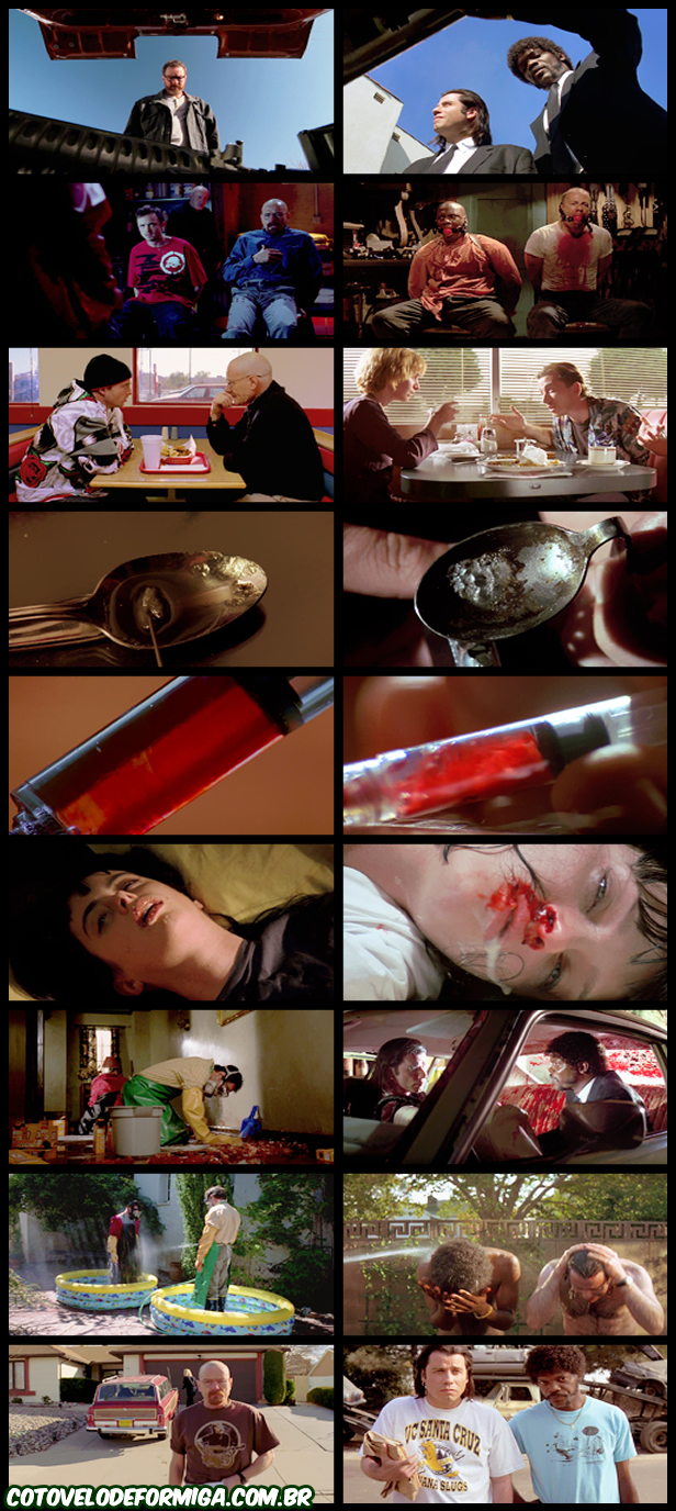 Imagens que provam que Breaking Bad copia cenas de Pulp Fiction