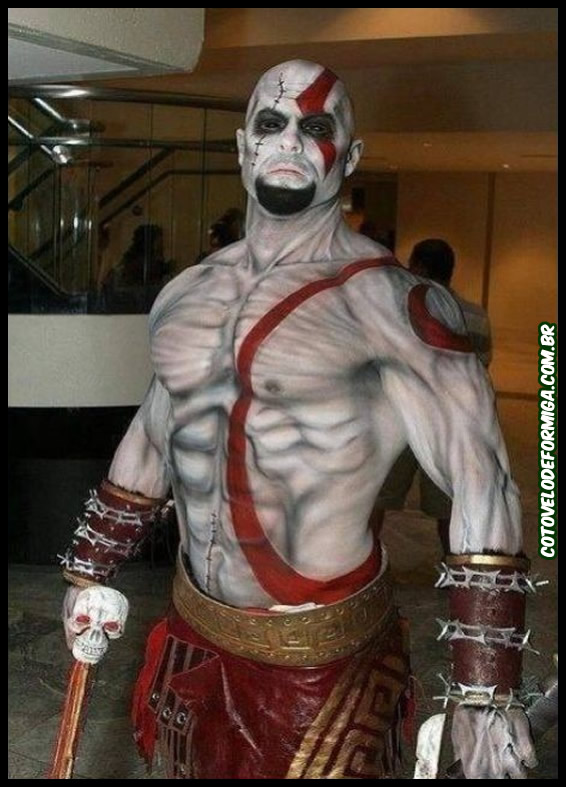 Cosplay FODA do Kratos