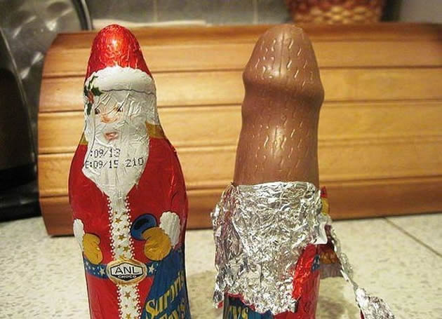 Papai Noel de chocolate